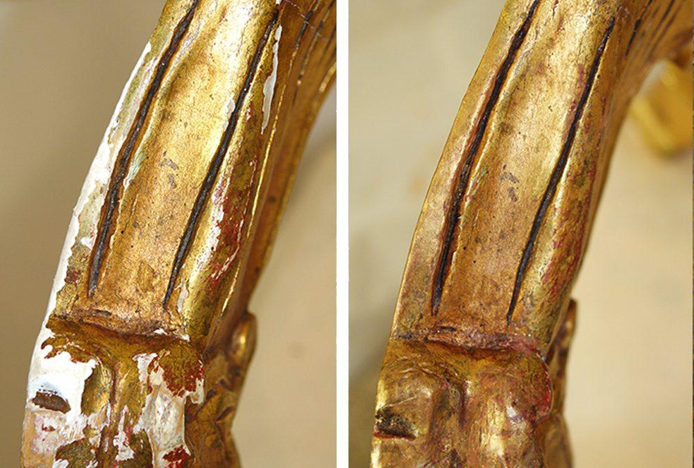 Neobarocksessel – gefasstes Holz