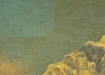 Landschaftsgemälde – Öl auf textilem Träger